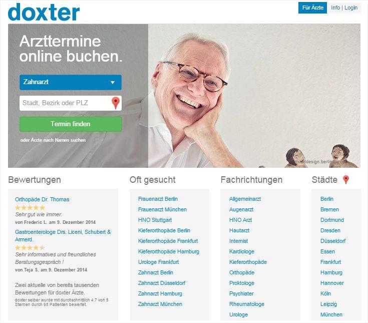 Praxismarketing – DOXTER-WEBSITE