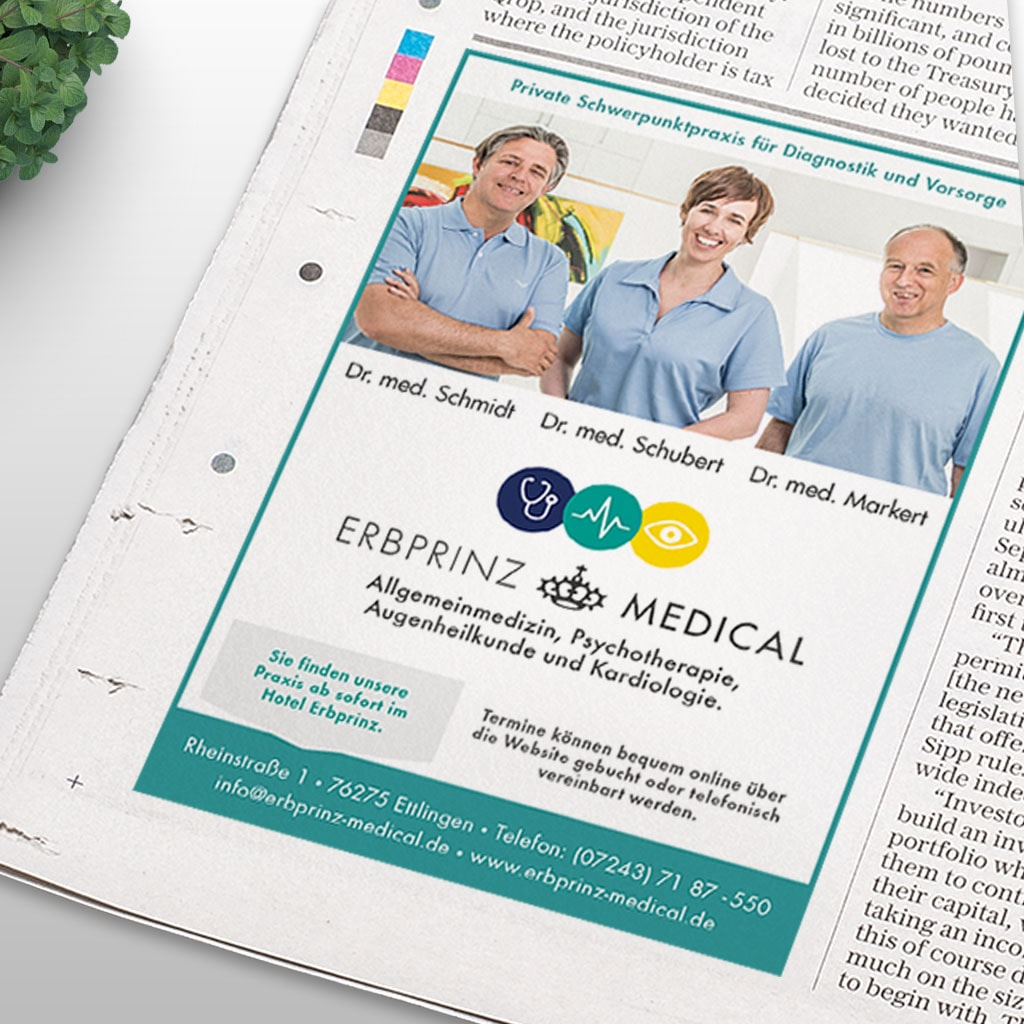 Praxismarketing Erbprinz Medical