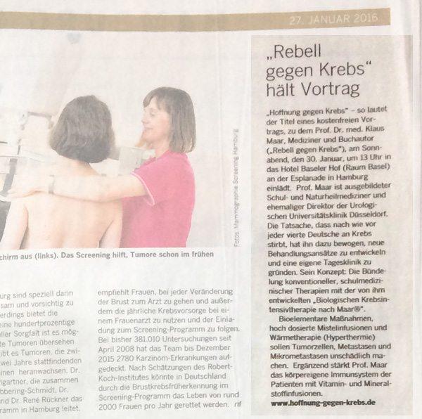 PRESSEARTIKEL HAMBURGER ABENDBLATT