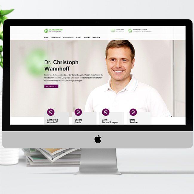 Praxismarketing – Dr. Wannhoff Zahnarztpraxis, Langenfeld